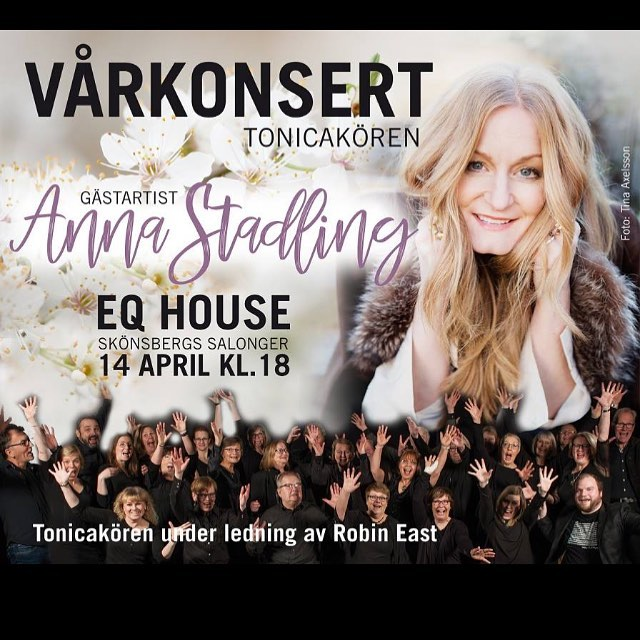 Nu är det snart dags för konsert med Anna Stadling 🎶 Du har väl bokat biljetter på entresundsvall? #annastadling #körsång #eqhouse #robineast