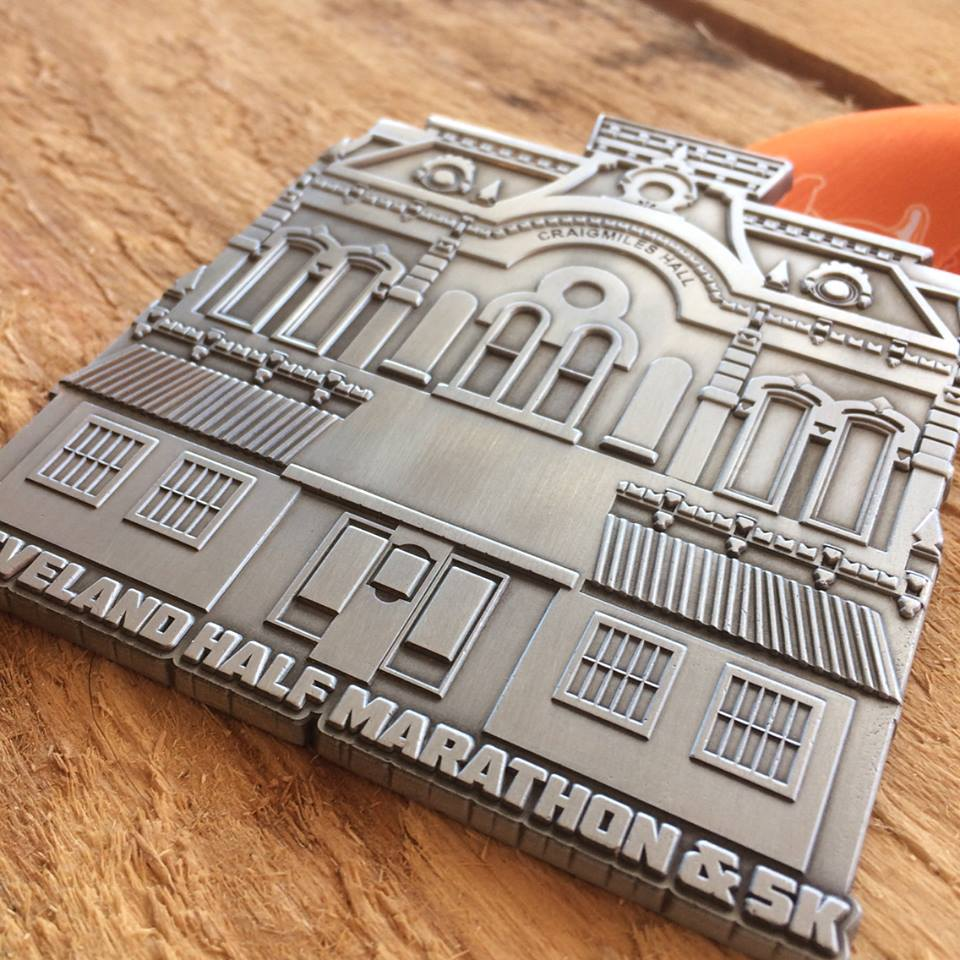 The 2017 finisher medal. All 5k and half marathon finishers will receive an awesome finisher medal!