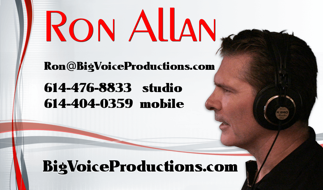Big Voice Productions business card side 2