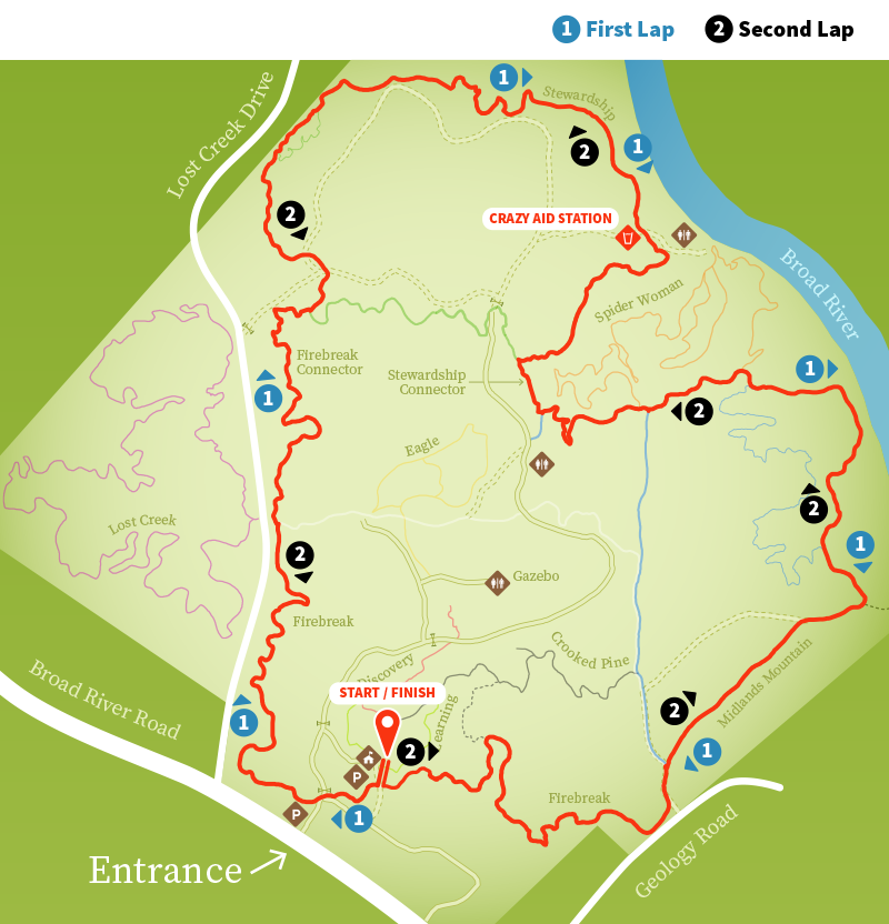 Hairy Bison // Course Map