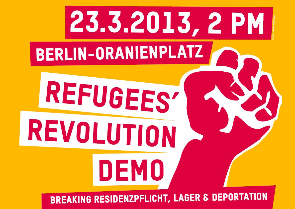Oranienplatz Protest Poster