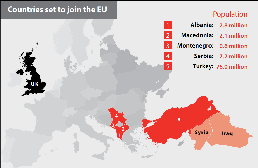 Map from the Vote Leave campaign mail-out on the UK EU Referendum.