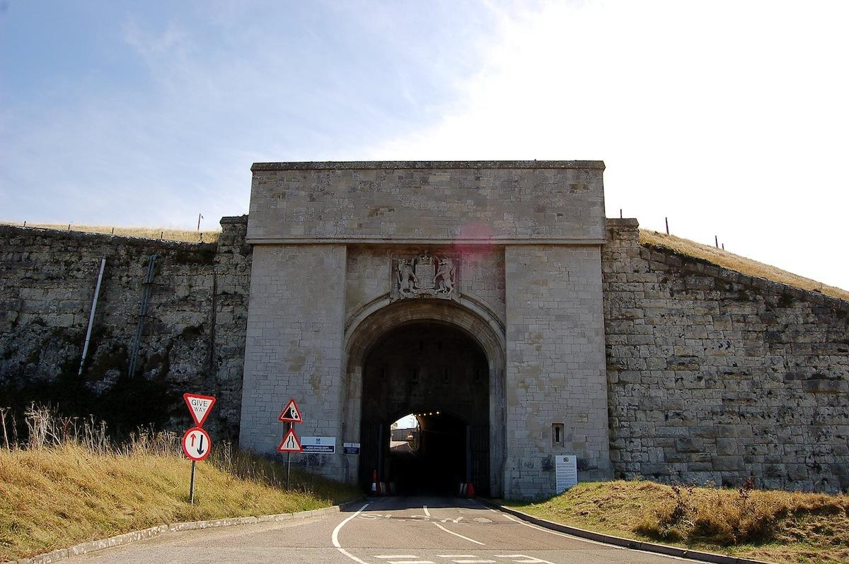 Entrance to The Verne, a detention centre that was once a prison. Photo: CC SA 3.0.