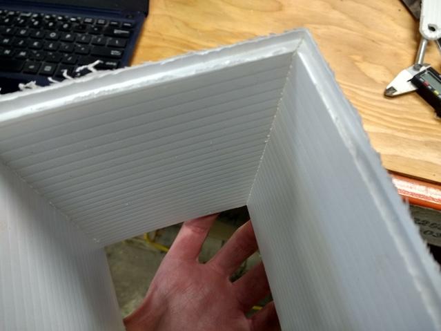 Folded coroplast