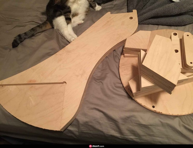 Frame parts and a cat from forum member mattnelson