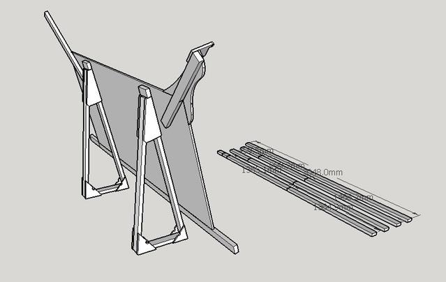 The CAD model showing design changes