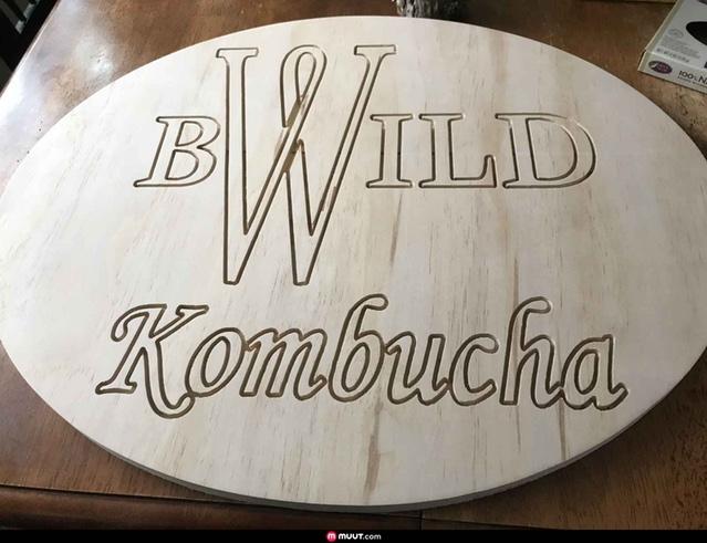 This Kombucha sign was made by blsteinhauer88