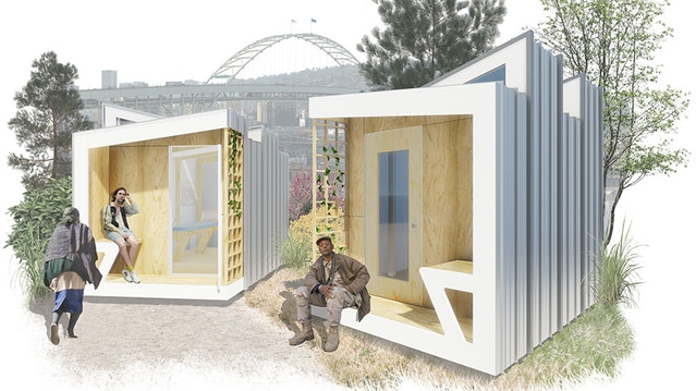 A rendering of what the finished POD will look like. Image courtesy of SERA Architects