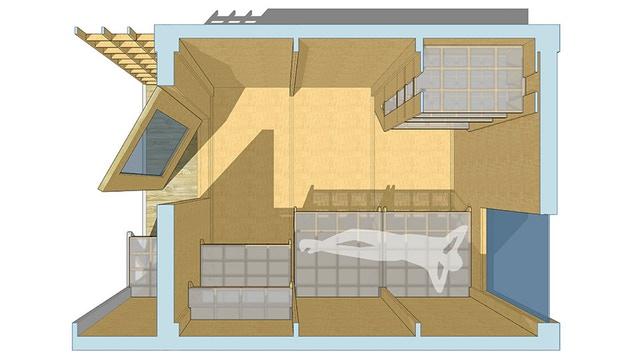 The interior of the POD. Image courtesy of SERA Architects