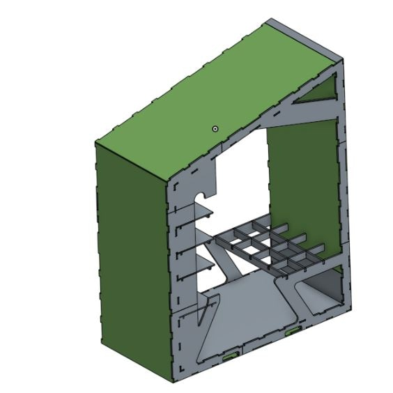 The test section of the POD redrawn to be constructed