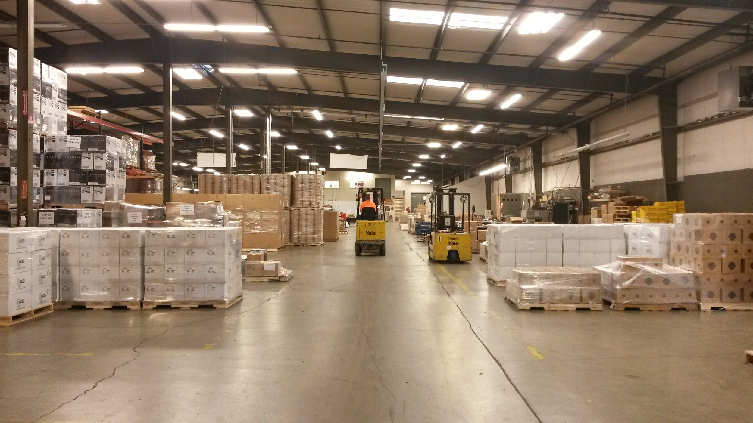 The Exceed Enterprises warehouse.
