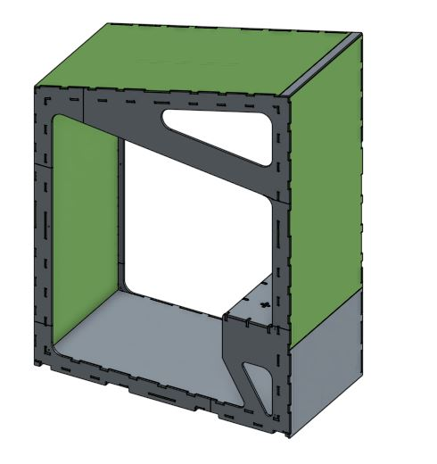 Module 1 Desk - Access the CAD drawings for the first module with the built in desk and clerestory window