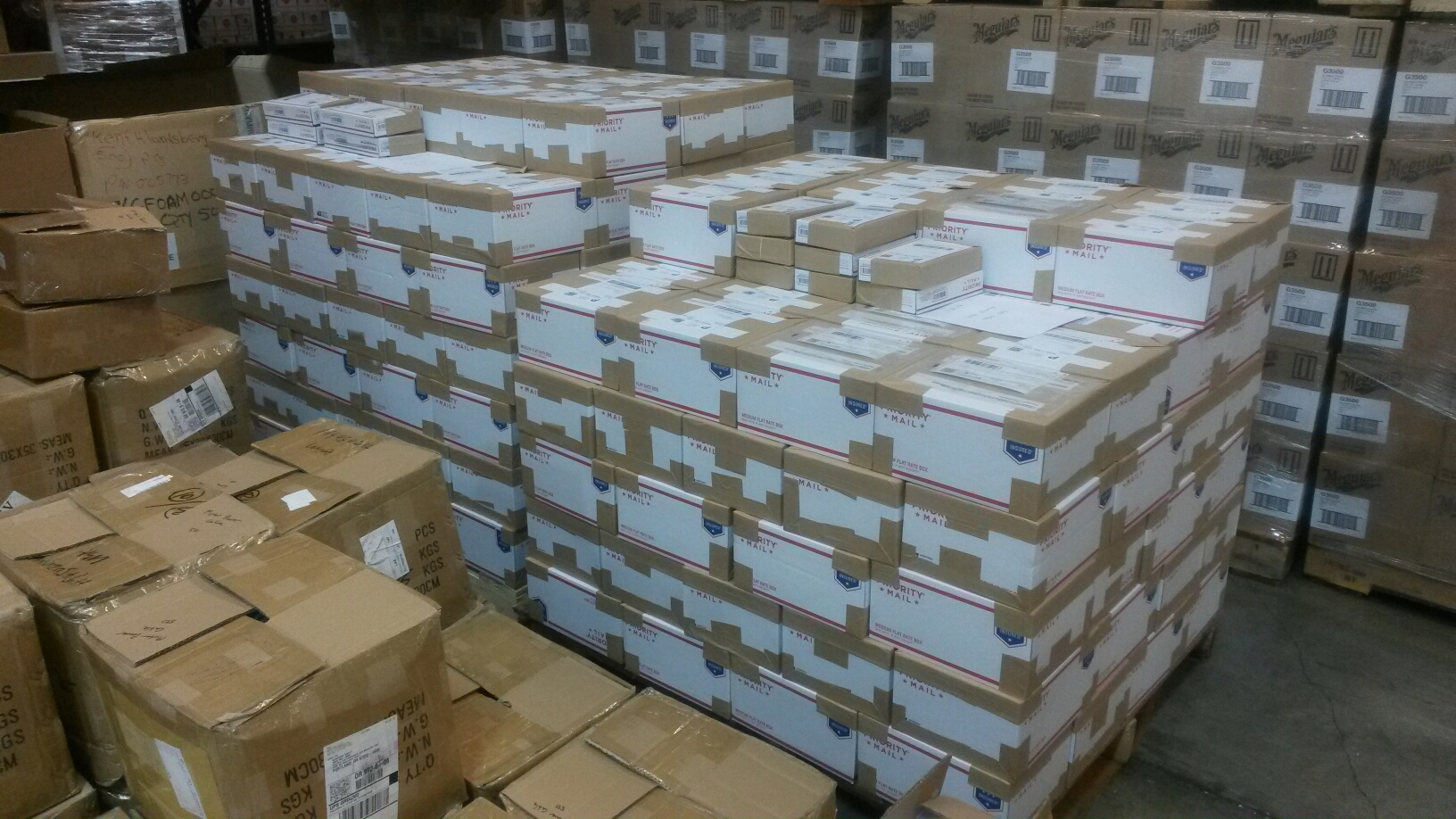 200+ kits sitting in the Exceed loading dock waiting to get picked up