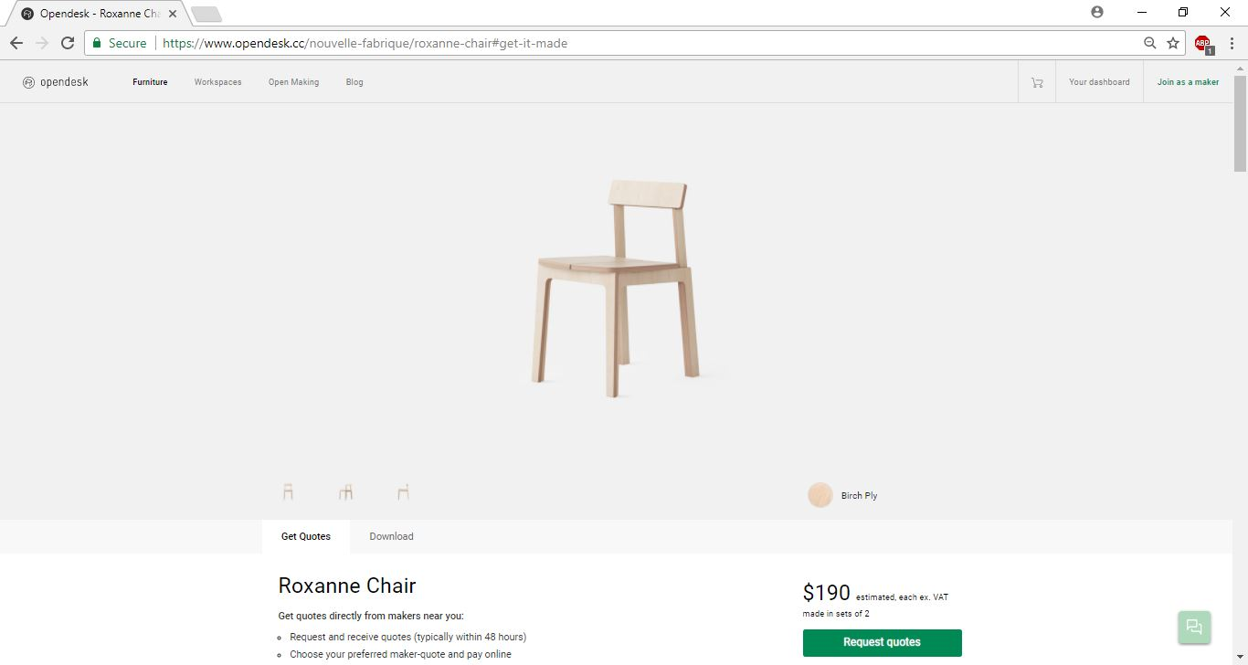 The Roxanne Chair from Open Desk