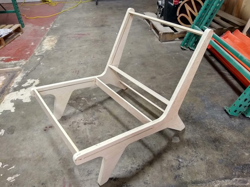 And finally this lounge chair that I am working on.