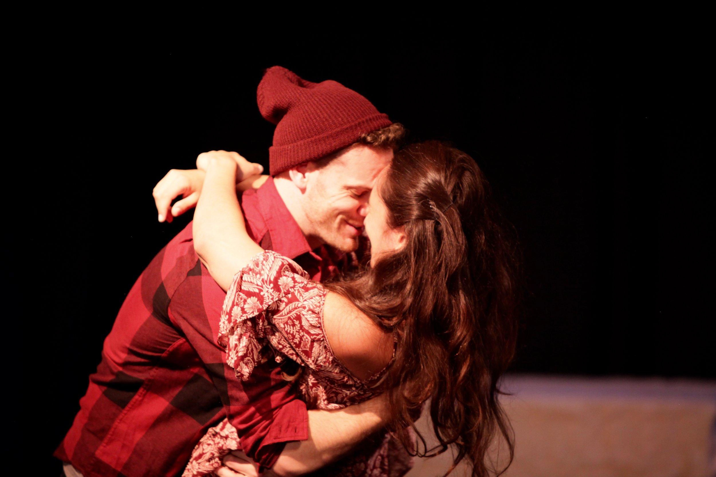 Posthumous and Imogen in Cymbeline (Brick Theatre)