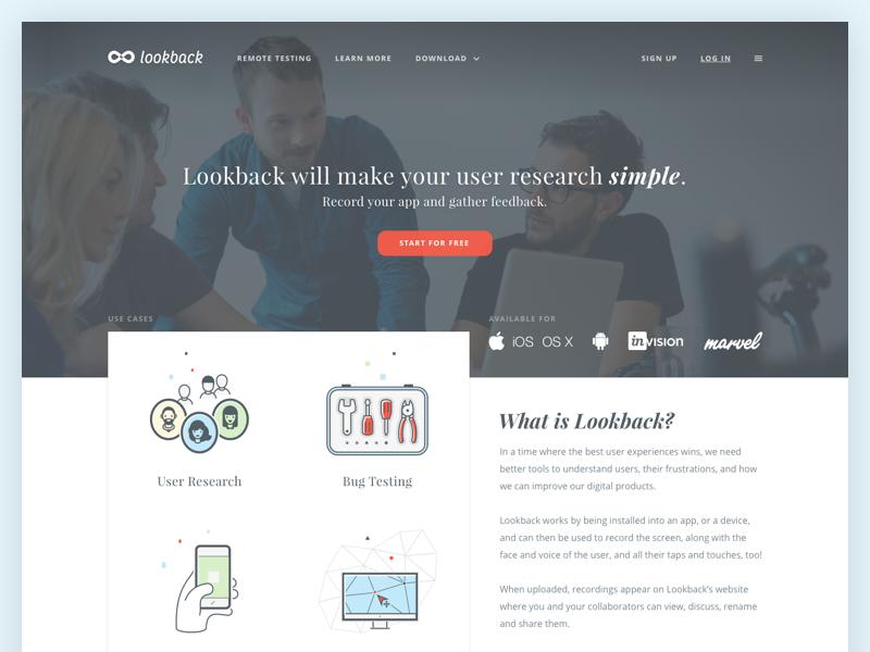 Lookback  - Web design