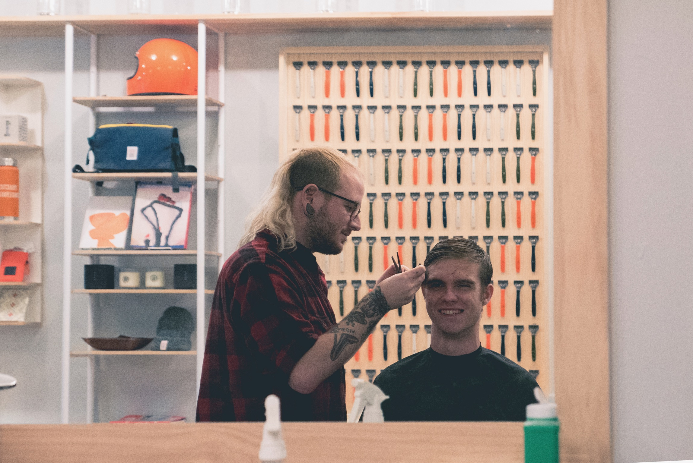 That might be me getting a haircut, photo by  Vince