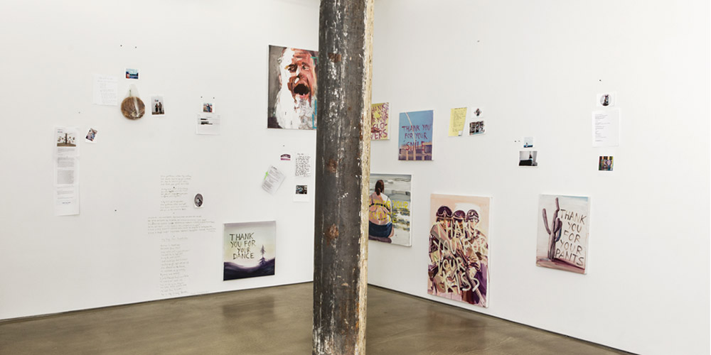 Installation view,   Thank You Paintings Exchange  ,     Denny Gallery, New York 2014