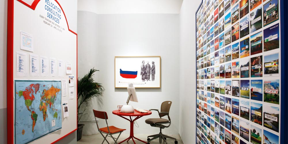 Installation view,   Global Reach Inc.  ,       Andrea Meislin Gallery, New York 2011
