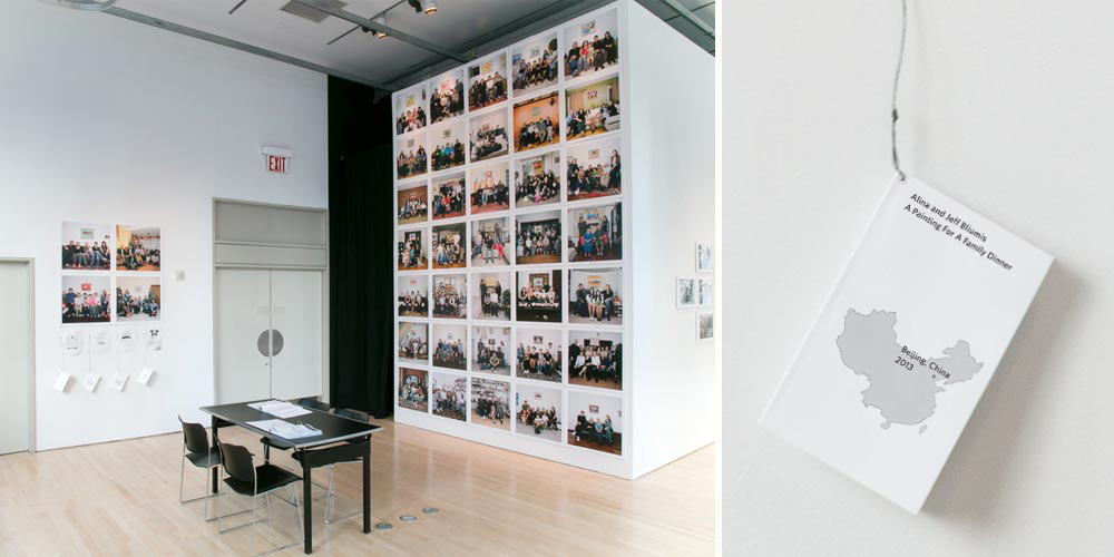 A Painting For A Family Dinner,  Installation view,  Specters of Communism: Contemporary Russian Art  ,    Curated by Boris Groys,The James Gallery, The Graduate Center CUNY, New York 2015