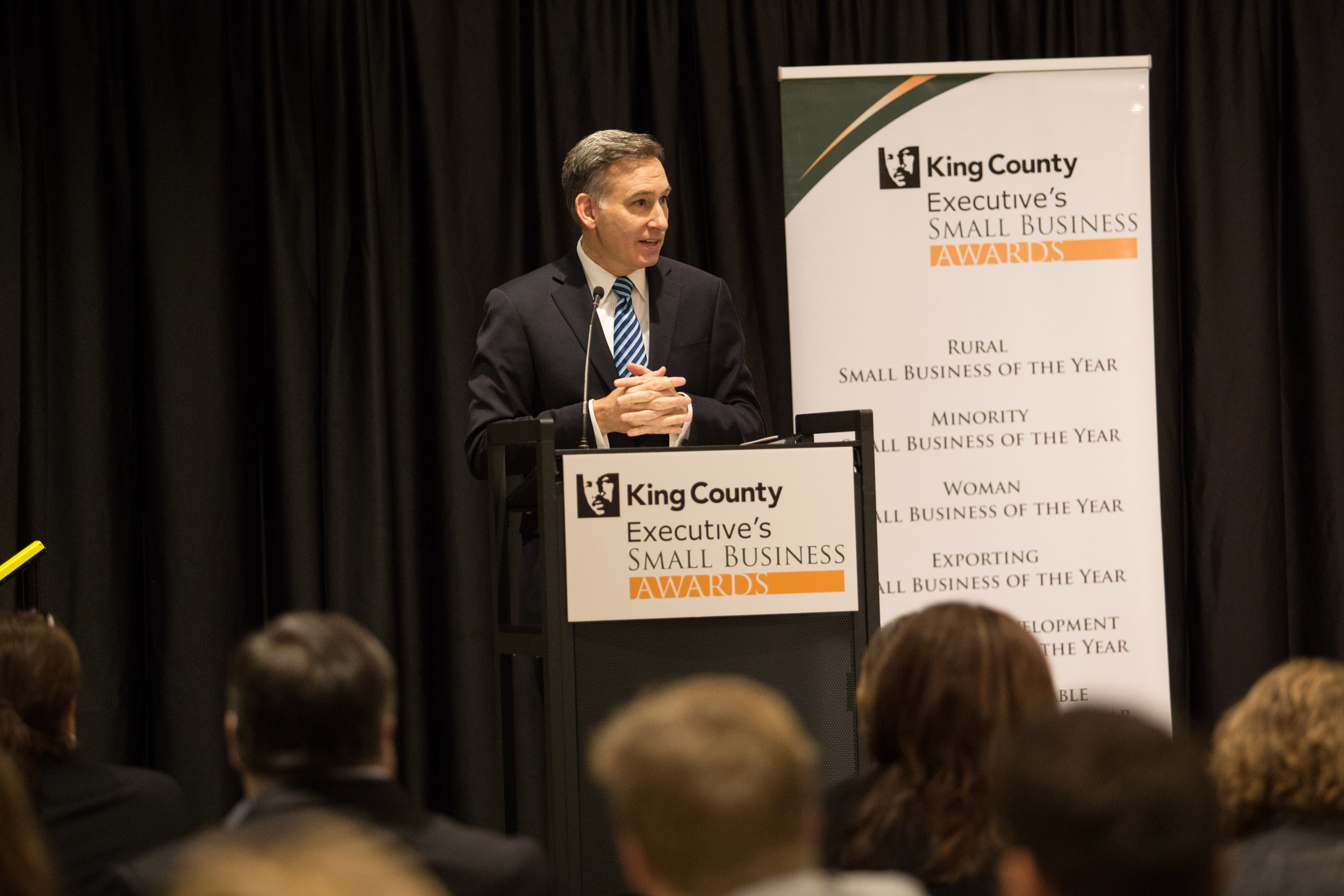King County Executive Dow Constantine addresses the audience
