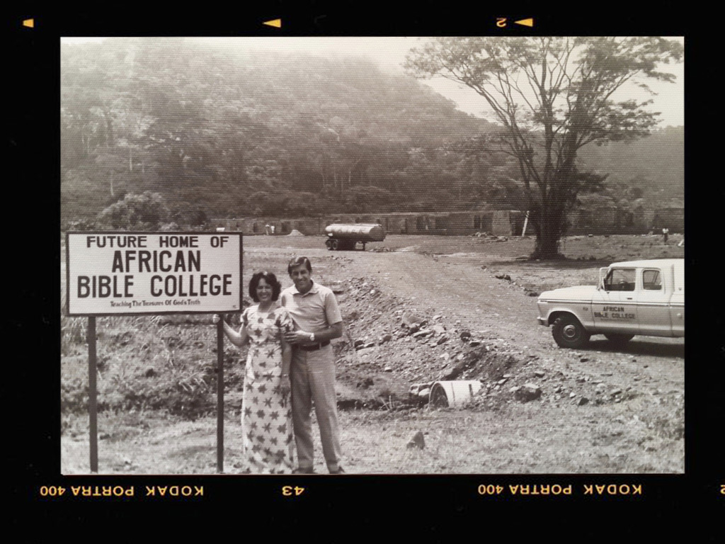 Photographed at ABC's first campus location in Yekepa, Libera of 1977