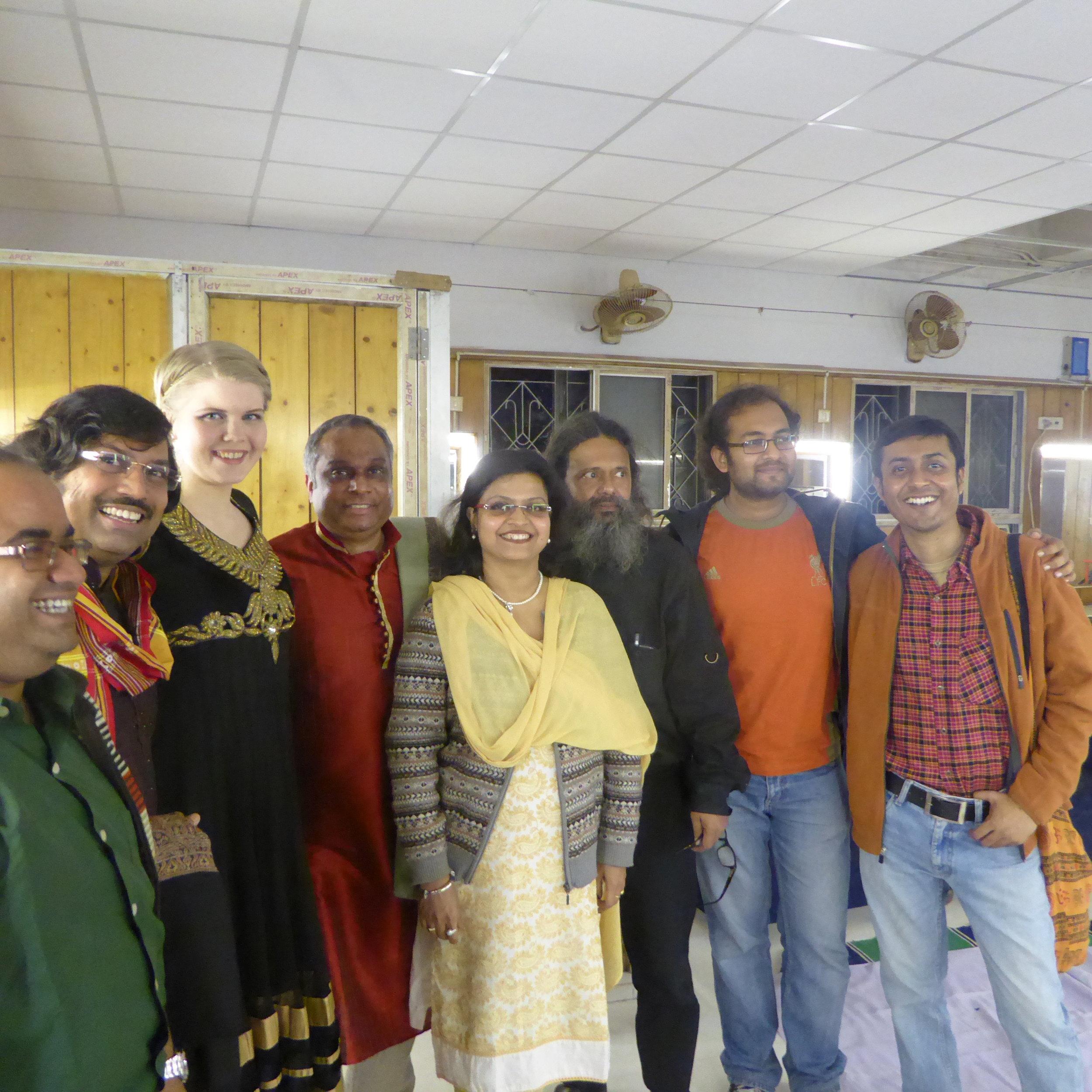 Amit Chatterjee, me, Ashraf, Amit's wife, Prosanta Kumar, Abhirup Roy, Apratim Majumdar