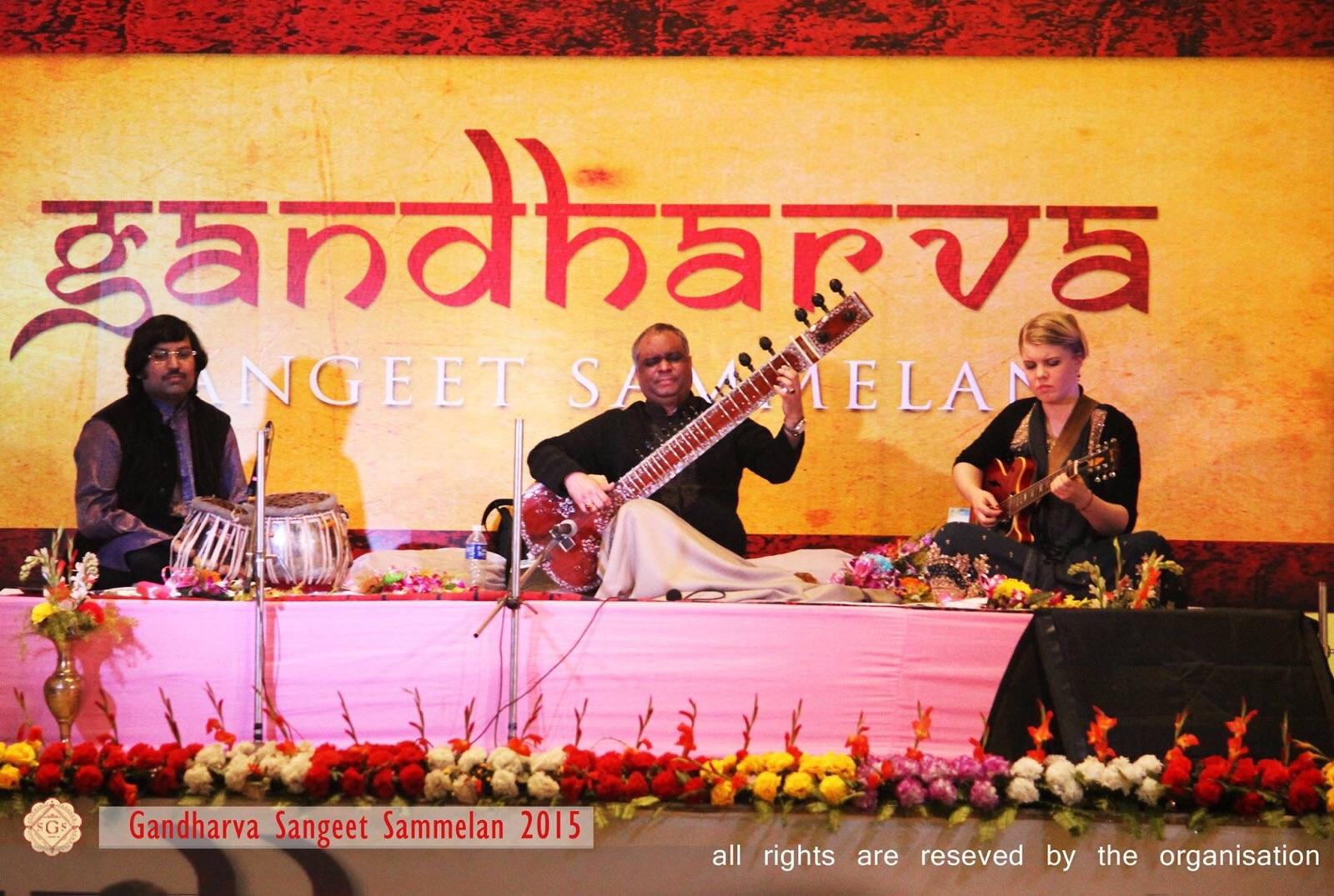 Concert at Gandharva Sangeet Gammelan 27.12.15. Amit Chatterjee on tablas.