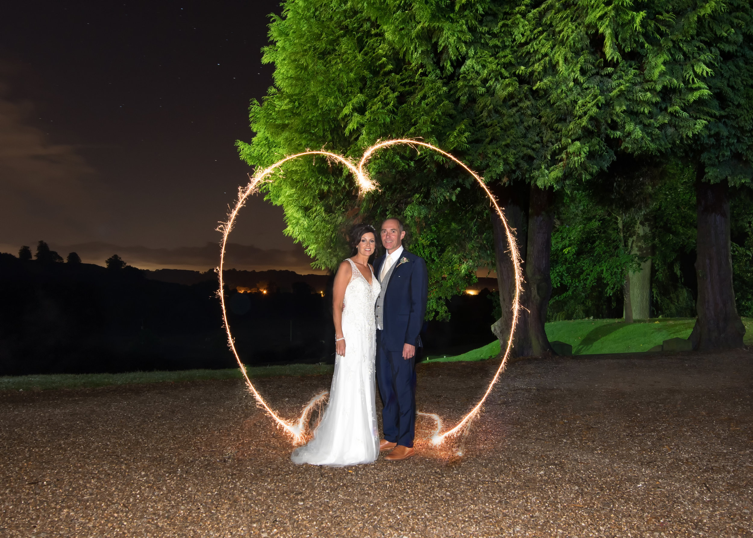 One of the couples favourite shots of the day - Created using sparklers