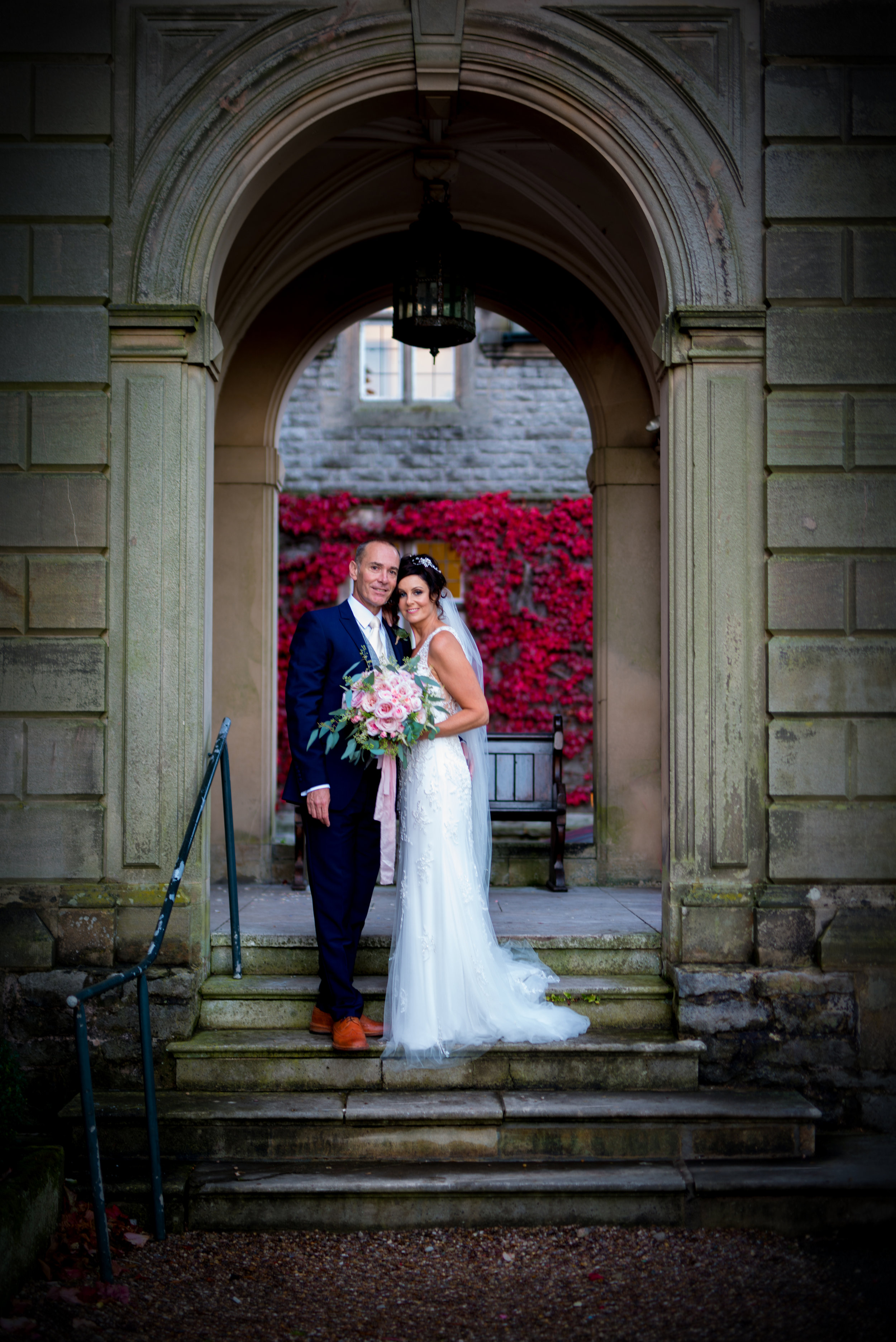 Perfect spot for the perfect couple - Front door steps at Callow Hall