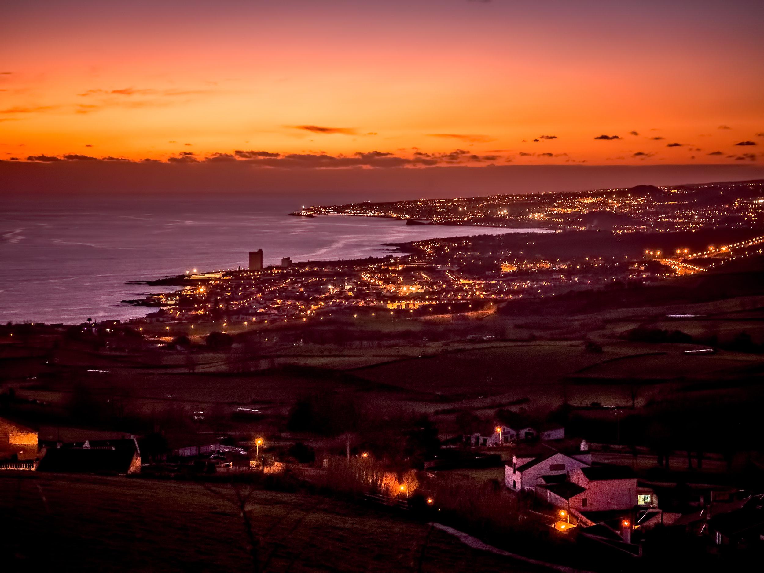 Ponta Delgada by night