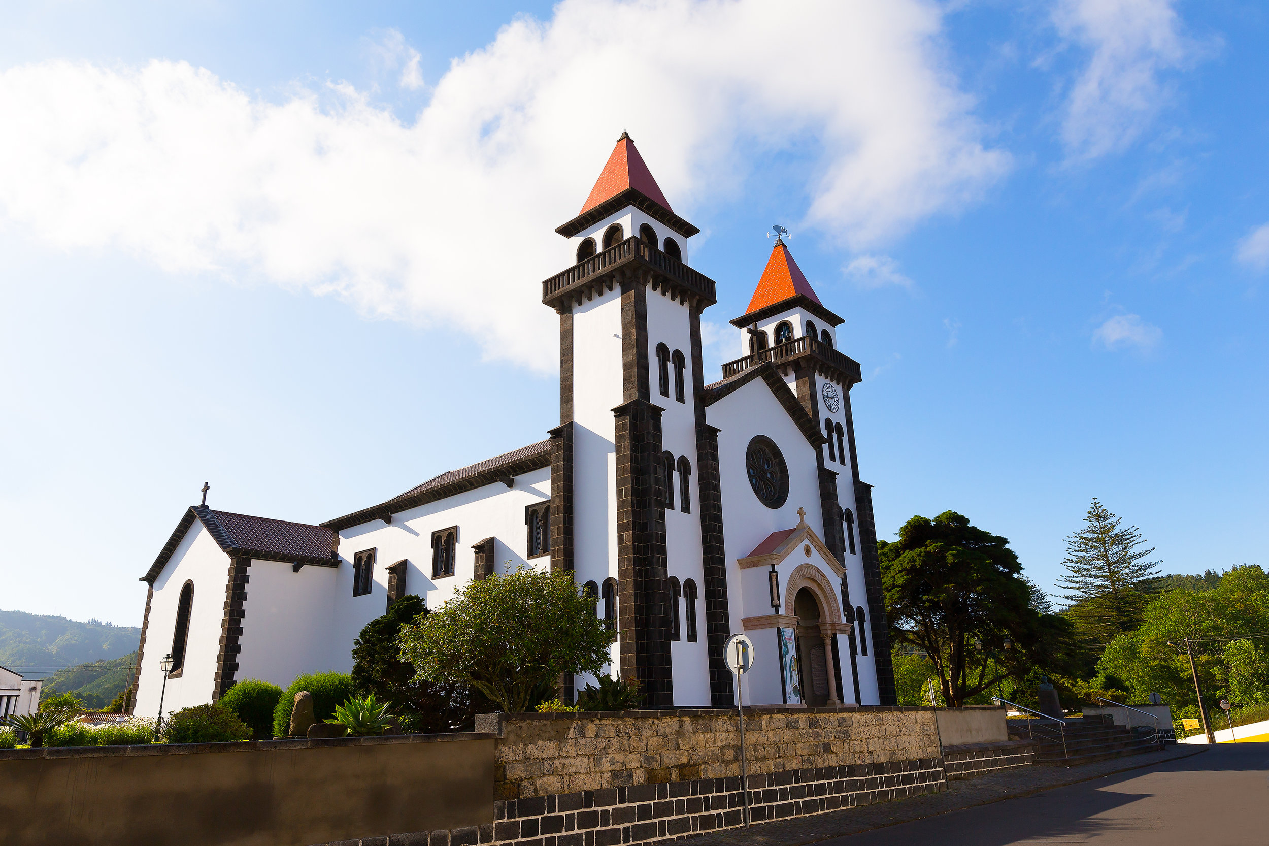 Vakre byggverk på Azorene