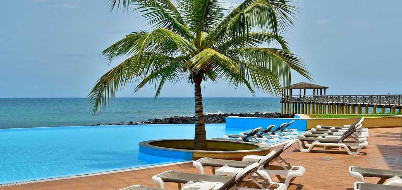 Pestana Hotel på Sao Tomé har fin beliggenhet ved sjøen