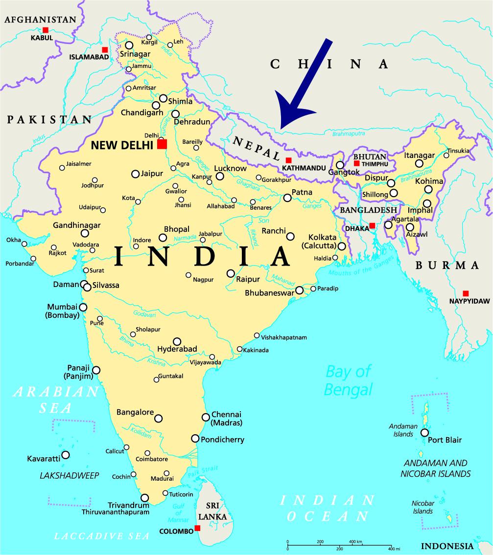 Nepal kan fint kombineres med India