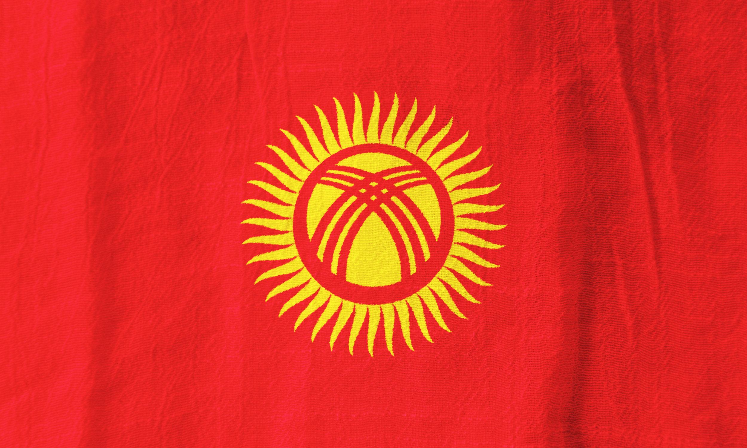 Kyrgyzstan flagg