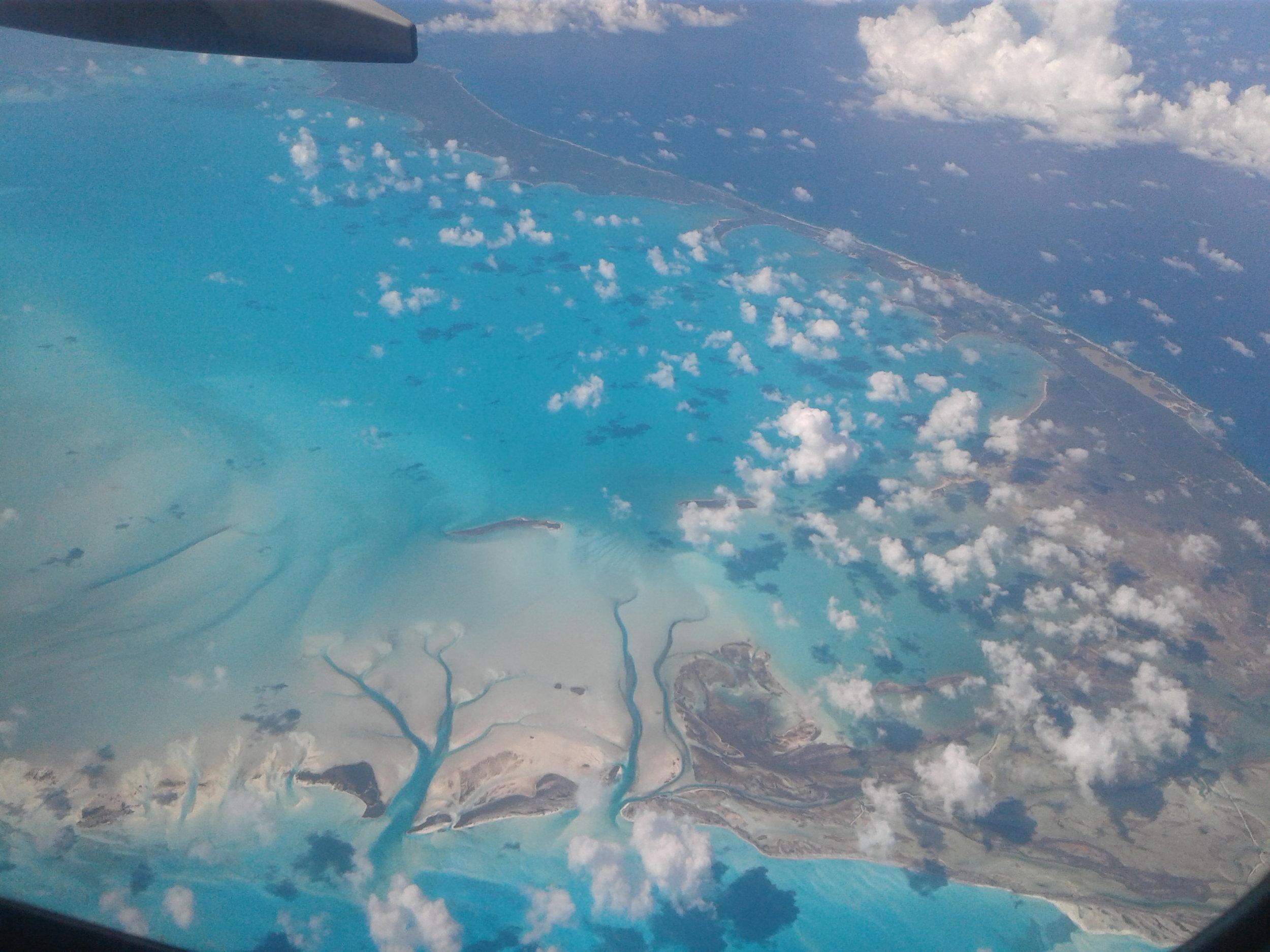 Fantastisk flytur over Bahamas