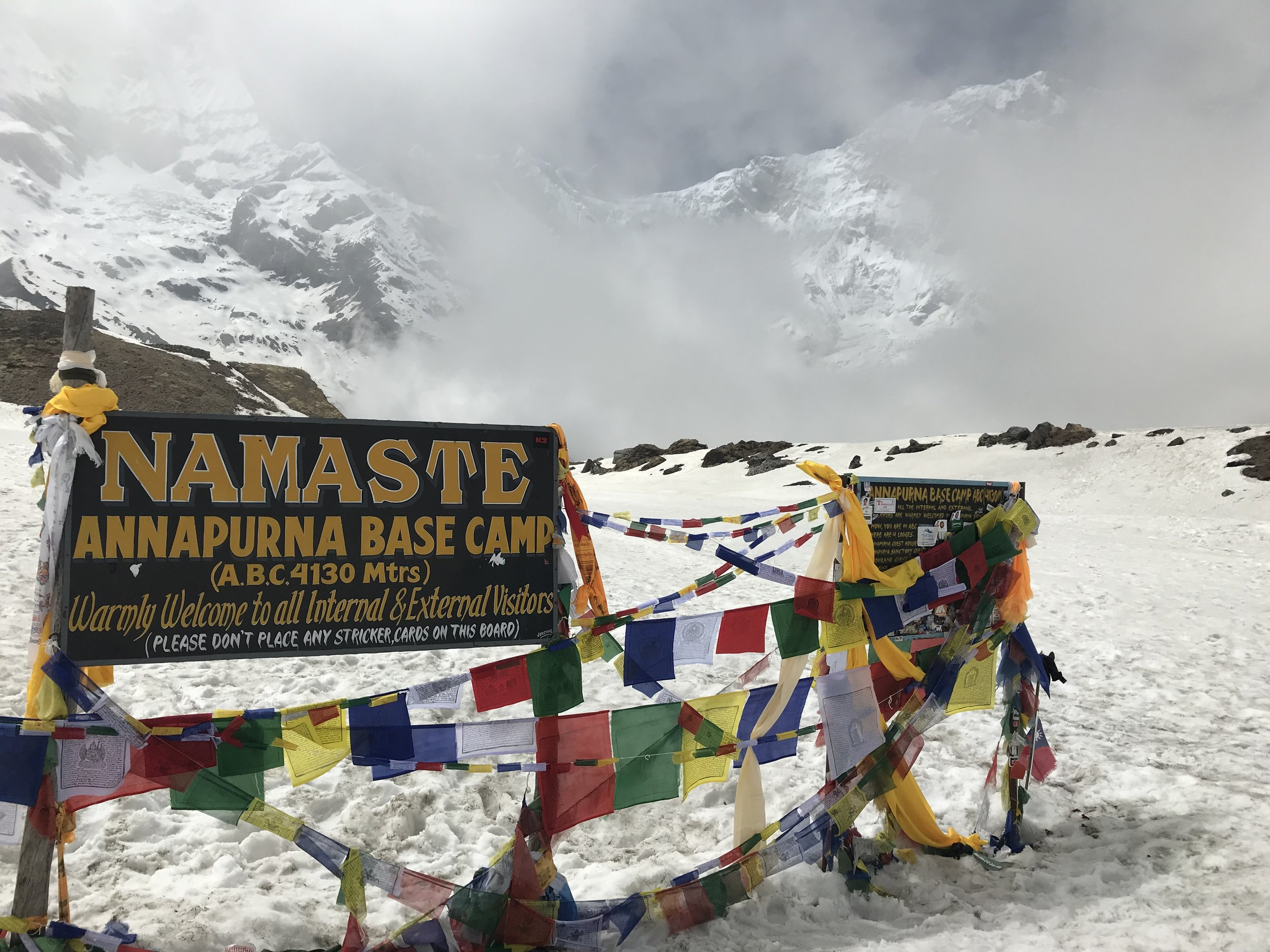 Namaste Annapurna Base Camp