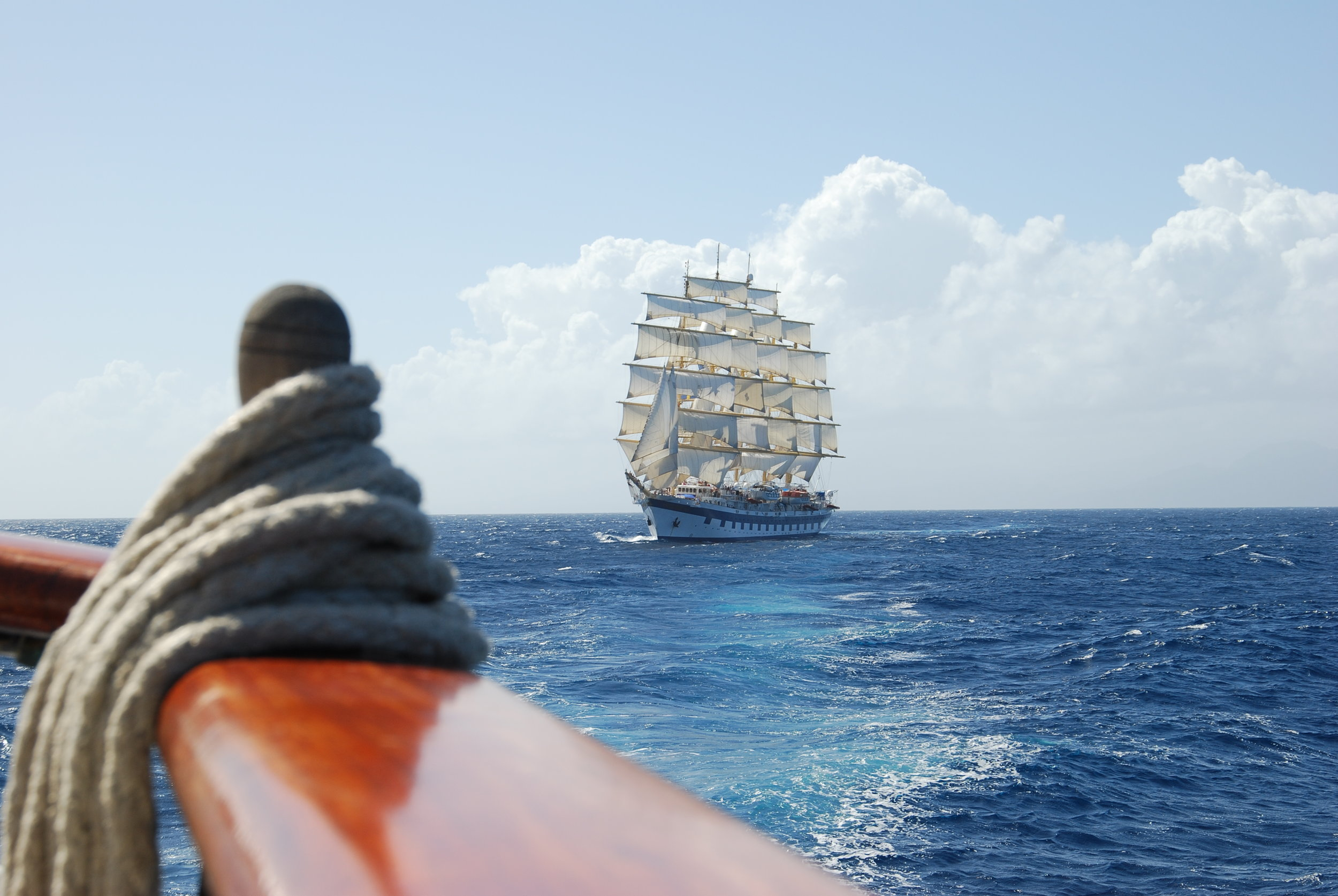Royal Clipper for fulle seil