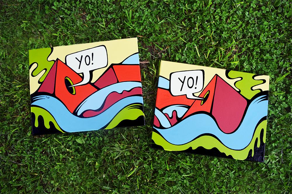 """""""Yo-Yo!"""" - Acrylic on canvas, 2016"""