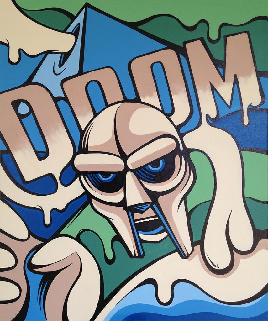 """""""DOOM"""" - Acrylic on canvas, 2014"""