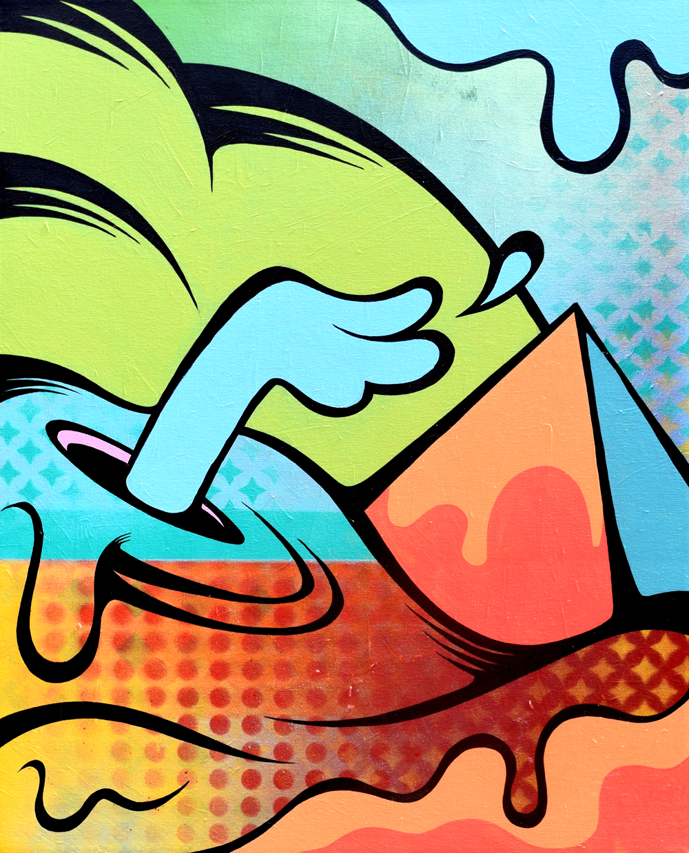 """Pulse"" - Aerosol and acrylic on canvas, 2014"