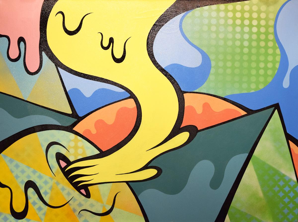 """Glow"" - Aerosol and acrylic on canvas, 2014"