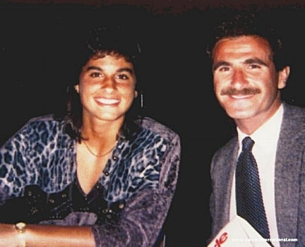 WITH GABRIELA SABATINI - 1990 U.S. OPEN CHAMPION