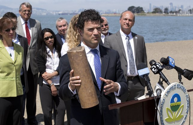 """July 2014:    Sewage in San Francisco Bay: Settlement reached to prevent overflows    Over the past 10 years, about 2.4 billion gallons of partially treated sewage has entered the bay, said Jared Blumenfeld, an EPA regional administrator.  """"For many years, the health of San Francisco Bay has been imperiled by ongoing pollution, including enormous discharges of raw and partially treated sewage from communities in the East Bay,"""" Blumenfeld said. """"Many of these discharges are the result of aging, deteriorated sewer infrastructure that will be fixed under the EPA order.""""  Along with spreading disease-causing organisms that can threaten public health, the raw and untreated sewage can deplete oxygen in the 1,600-square-mile bay and hurt fish, migratory birds and other wildlife.  """"It's more of 'death by 1,000 cuts' in terms of impact to the bay,"""" said Deb Self, executive director of San Francisco Baykeeper, which was among those that brought the legal action to enforce the Clean Water Act.  Others behind the lawsuit were the San Francisco Bay Regional Water Board and the Our Children's Earth Foundation.  Under the agreement, EBMUD, the Stege district and the cities will assess and upgrade their sewer system infrastructure, including at EBMUD's three wet water treatment facilities.   Read more here."""