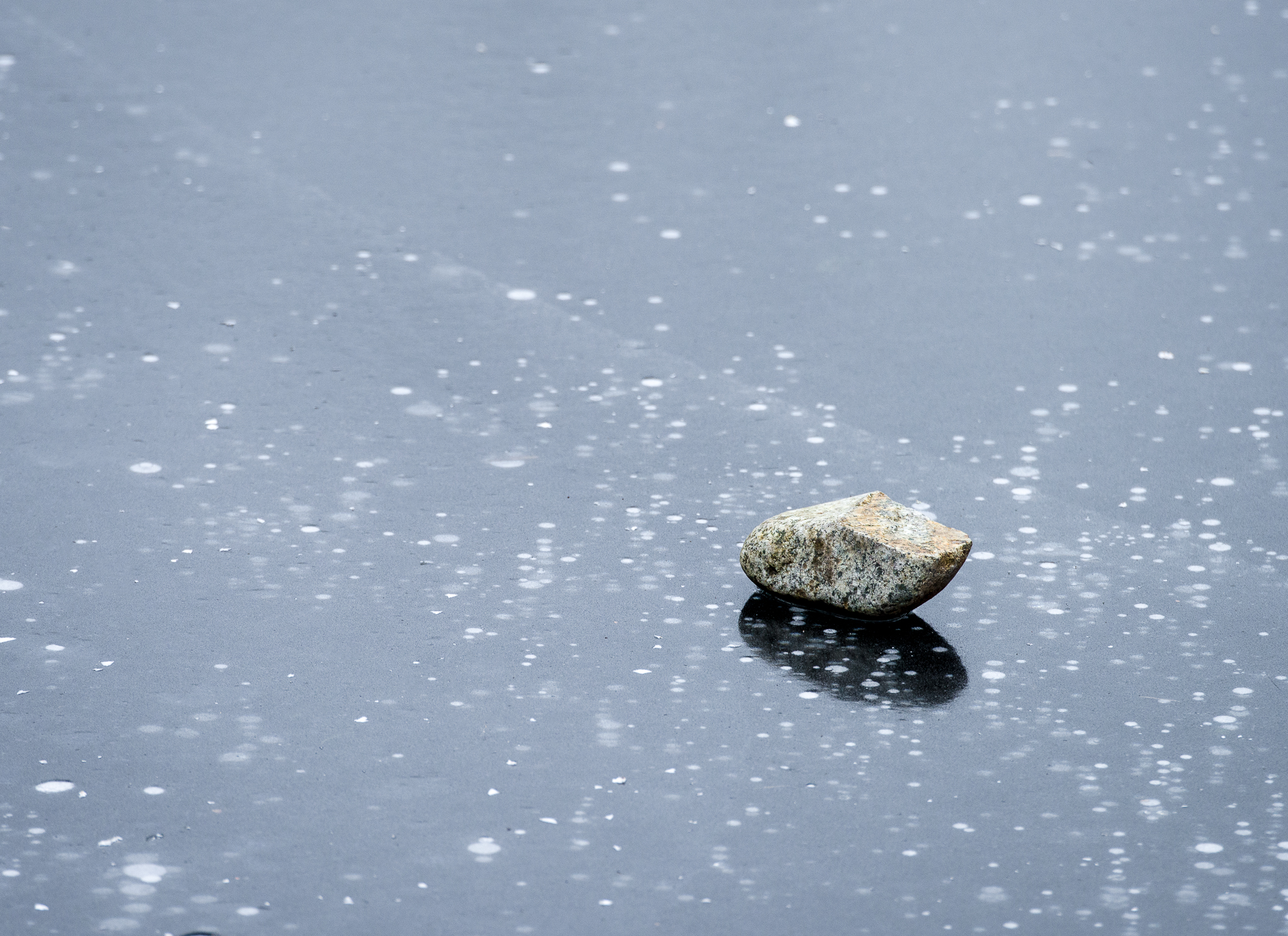 Frozen rock on the water (pretty stark, but I think it's a pleasant background image  )