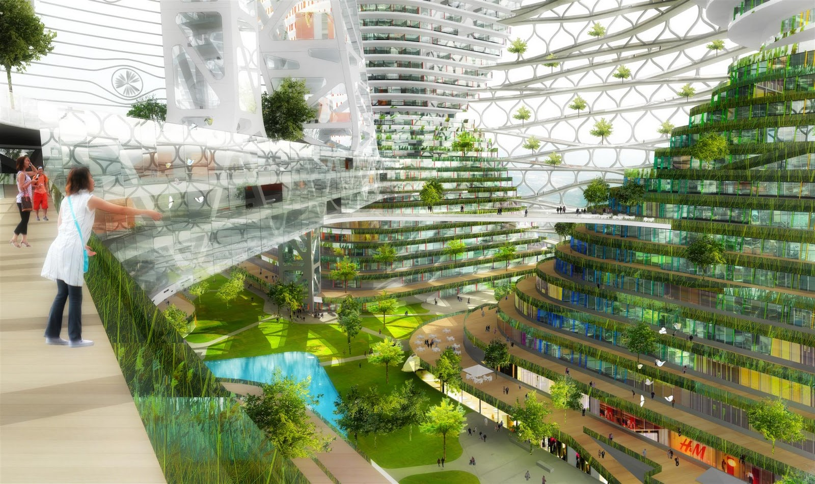 JDS's Logistic City is a Wind Powered Vertical Forest for Shenzhen