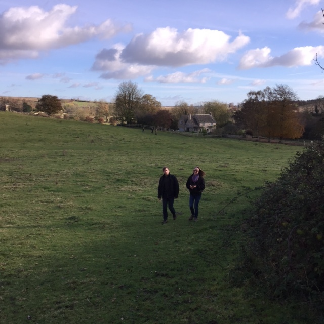 15.11.16 We went to the Cotswolds last Sunday and had a whole day of walking-and-talking meetings about the film ... basically like an English countryside version of The West Wing. And instead of Martin Sheen you've got a couple of movie-obsessed young filmmakers. -MF