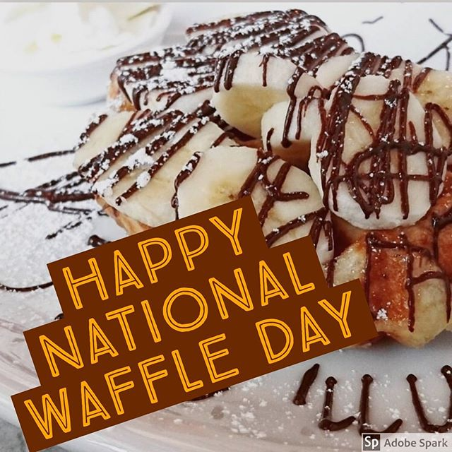Happy National Waffle Day 🥳🥳🥳 Today is the perfect day to try out any of our sweet or savoury waffles. The only authentic Belgian waffles in Toronto made with Imported Belgian ingredients and by a Belgian! #liegewaffle #toronto #dessert #waffles