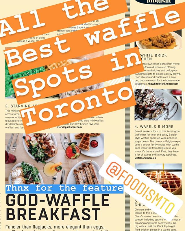 Find the best waffle spots in Toronto in the October issue of @foodismto so we are glad to make the list as the most authentic Belgian waffle place of Toronto #liegewaffle #waffles #toronto #blogto #foodismto #authenticfood #belgianwaffle